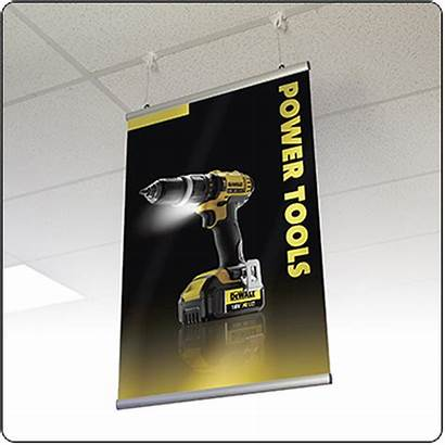 Banner Hanging Aluminum Holders Rail Ceiling Posters