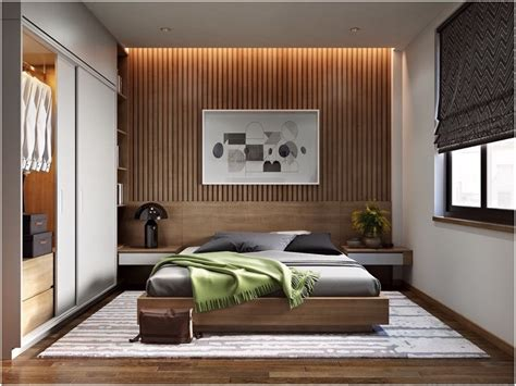 30 Ideas For Modern Bedroom Design With Slatted Walls
