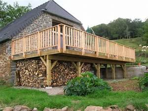 terrassen auf standerwerk holzterrasse die With jardin autour d une piscine 10 terrasse en bois sur poteaux avec escalier moissannes