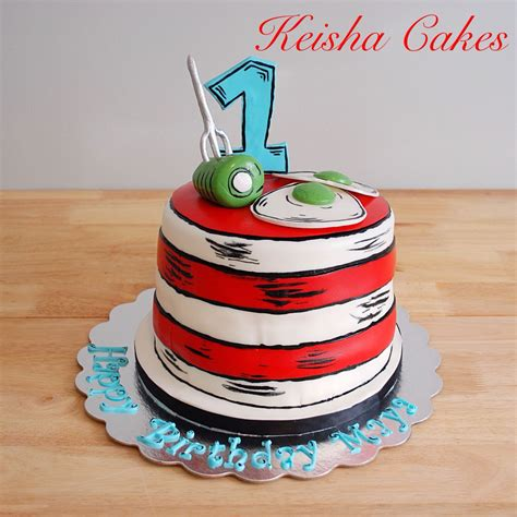 dr seuss cat   hat birthday cake green eggs  ham