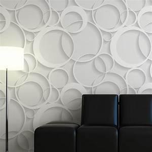 Papier Peint Blanc Relief : d corer blog fr papier peint 3d ~ Melissatoandfro.com Idées de Décoration