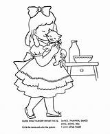 Nursery Coloring Pussy Rhymes Goose Mother Rhyme Sheets Bluebonkers Cat Quiz Drawing Children Printable Embroidery Getcoloringpages Sheet Rosie Ring Around sketch template