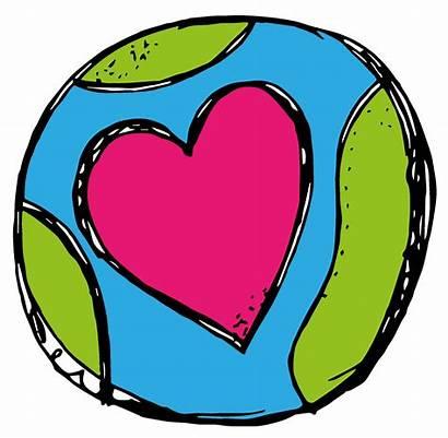 Earth Clipart Heart Clip Melonheadz Globe Transparent