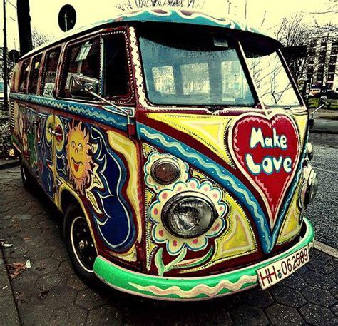 volkswagen hippie van front the children of flower power 60 39 s bumper sticker quot if the
