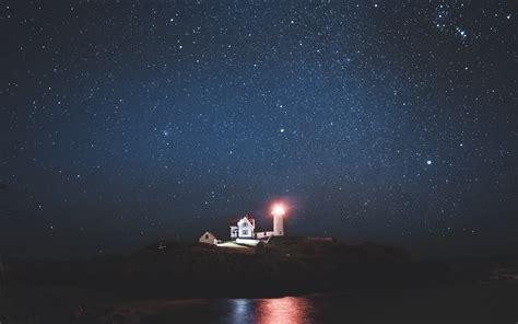 Wallpaper For Desktop Laptop Oa67 Lonely Night Sea Dark