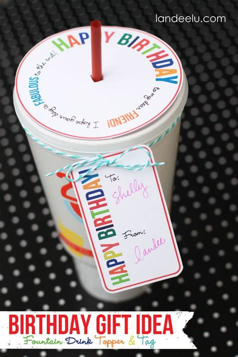 birthday gift idea drink topper  tag teacher
