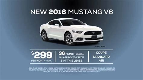New 2016 Ford Mustang V6 Lease Special Offer from Ford of