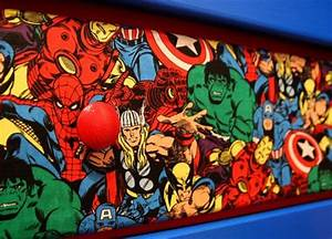 diy superhero dresser drawers cool kiddy stuff With kitchen cabinets lowes with marvel superhero wall art