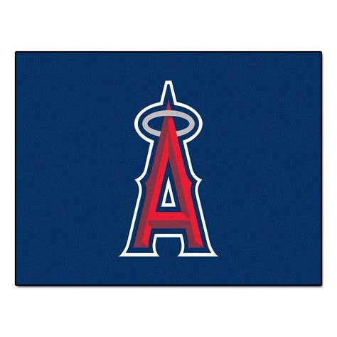 fanmats los angeles angels 2 ft 10 in x 3 ft 9 in all star rug 6400 the home depot