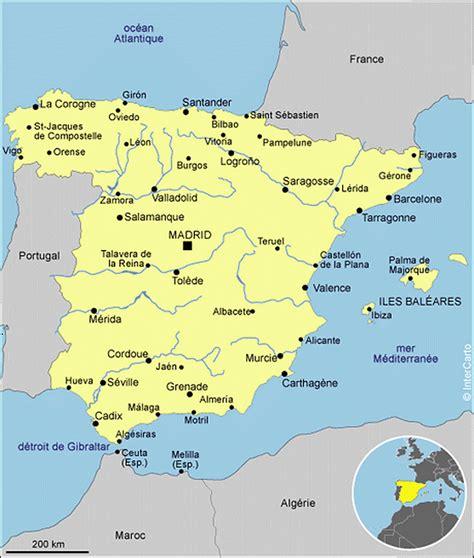 Carte D Espagne Avec Villes by Cartograf Fr L Espagne Zoom Sur Carte Avec Les Villes
