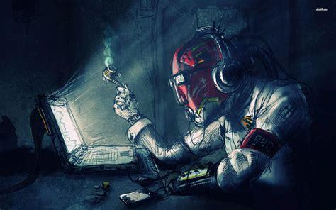 3d sleep mask cyborg wallpaper