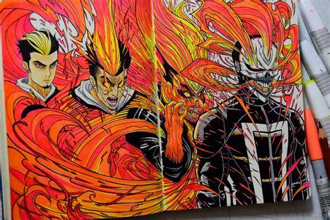 ghost rider robbie reyes fan art  edcarrascal