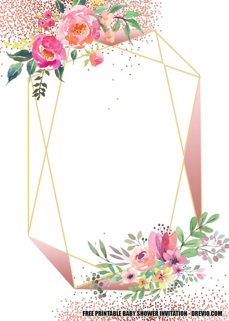 FREE Floral Baby Shower Invitation Templates Baby shower