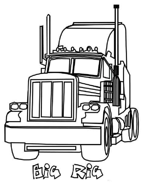 semi truck coloring pages  printable semi truck