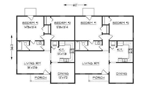 Simple Small House Floor Plans  Duplex Plan, J1042d
