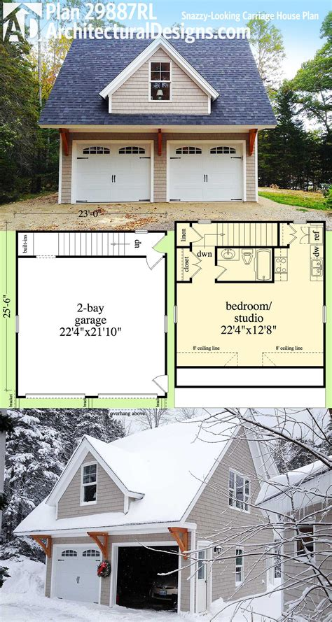 Plan 29887rl Snazzylooking Carriage House Plan Home