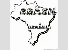 Map of brazil Coloring Page Free Brazil Coloring Pages