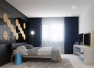 Bedroom wall design interior design ideas for Interior wall designs bedroom