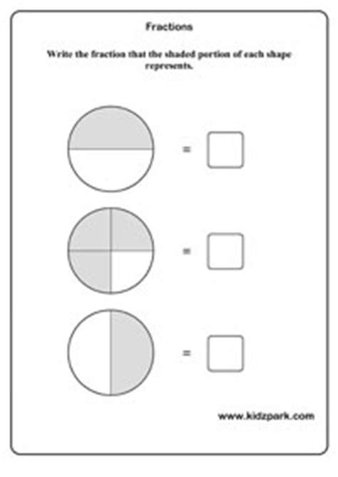 math fractions worksheets kindergarten curriculam home