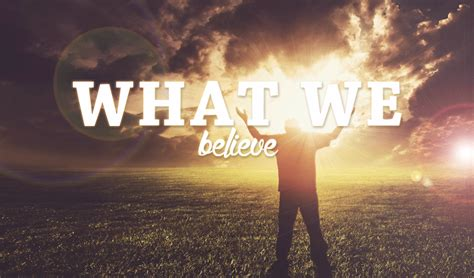 What We Believe - Hope Lutheran Church Port Coquitlam