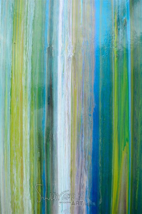 blue stripey painting art  straight lines earth greens