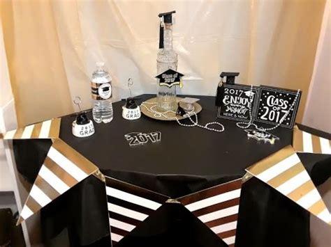 decoracion  graduacioncentro de mesa idea sencilla