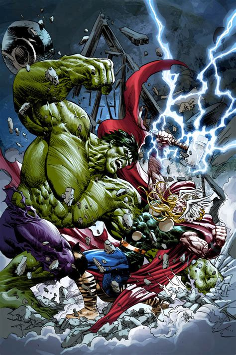 hulk  thor background android red