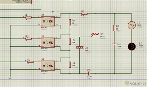 Triac Power Regulator For Dimmer Lamp With Arduino Youspice