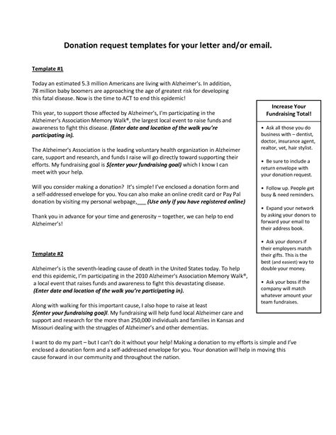 donation request templates   letter andor email