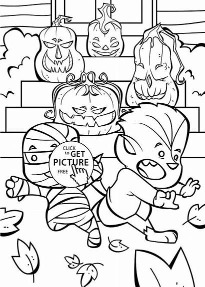 Coloring Halloween Pages Printable Jack Happy Funny