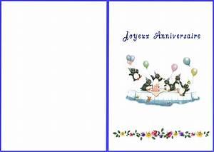 Carte De Voeux à Imprimer Gratuite : cartes anniversaires imprimer gratuites carte ~ Nature-et-papiers.com Idées de Décoration