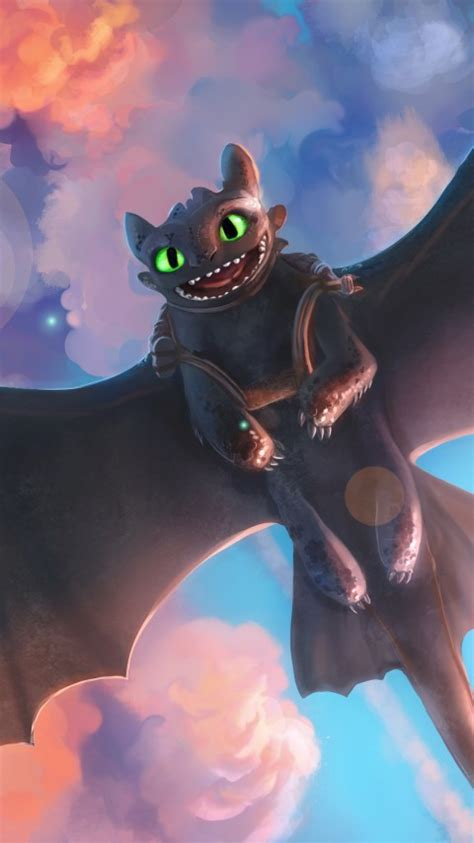 wallpaper toothless night fury dragon  creative