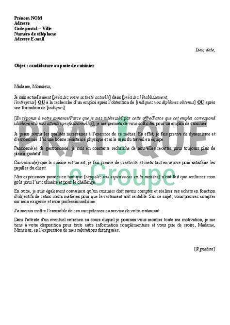 modele lettre de motivation pour plongeur debutant lettre de motivation pour un emploi de cuisinier pratique fr