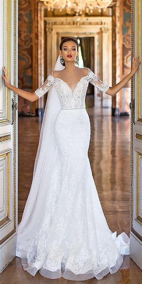 24 trumpet wedding dresses that are fancy romantic