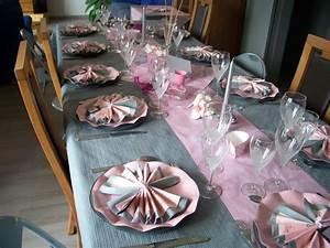Deco Table Rose Et Gris : forum maghr bin d coration anniversaire fille couleurs ~ Melissatoandfro.com Idées de Décoration