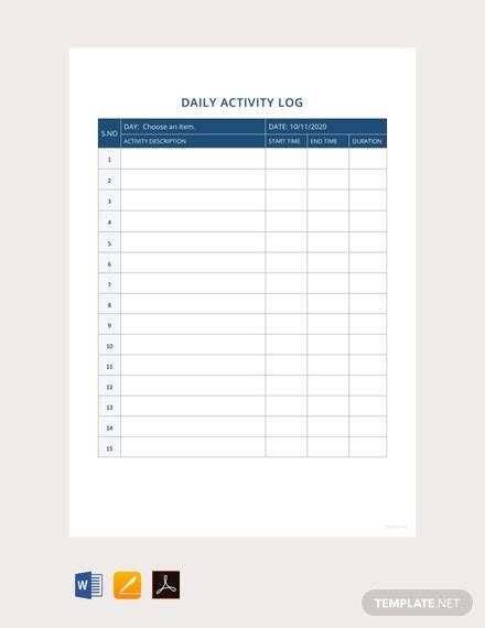 employee activity report templates docs word pages
