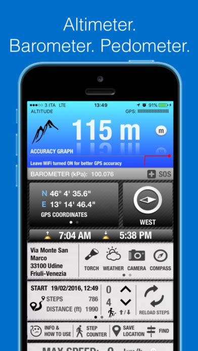 elevation app iphone altimeter gps altitude map elevation for travel with