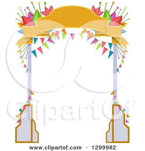 clipart of a arch of white and blue indpendence day balloons royalty free vector