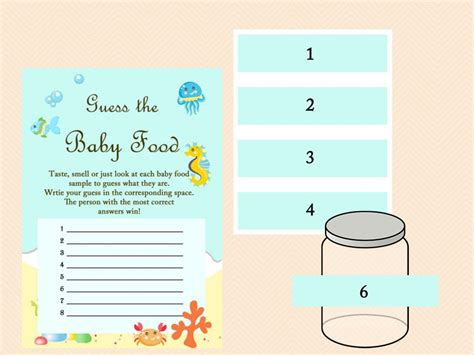 baby food jar label template guess the baby food printable free food