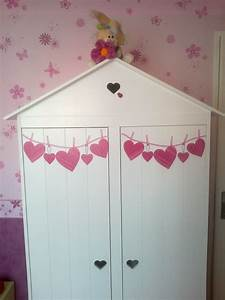 Chambre Enfant Pas Cher : chambre de ma fille photo 4 6 une armoire gifi customis e ~ Teatrodelosmanantiales.com Idées de Décoration