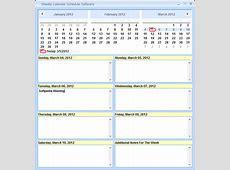 Download Weekly Calendar Schedule Software 70