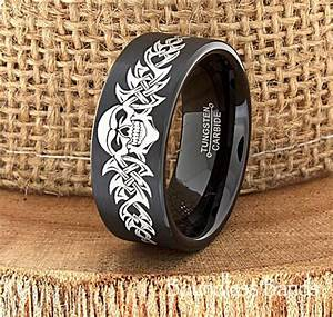 skull wedding band skull ring biker wedding band mens With mens biker wedding rings