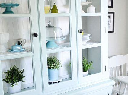aqua smoke by behr painted hutch love this color for you