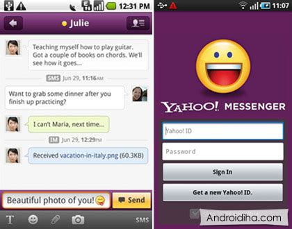 yahoo messenger for android yahoo msg for android
