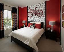 Modern Black House Bright Accents Black Takes A Backseat To Red In This Contemporary Bedroom