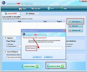 how to convert pdf file which has password protected With convert password protected pdf to word document