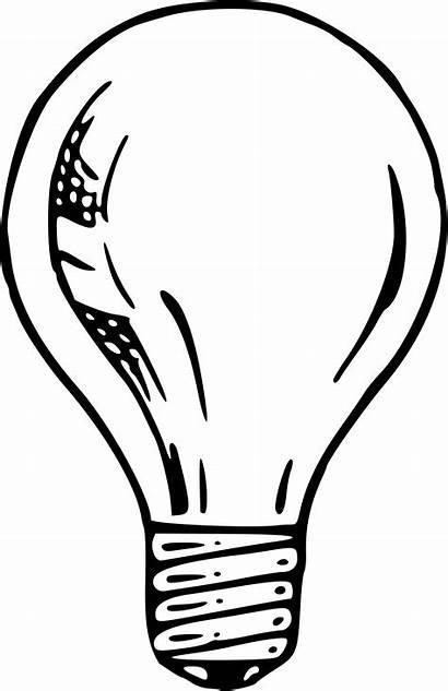 Bulb Drawing Lightbulb Line Clipart Incandescent Transparent