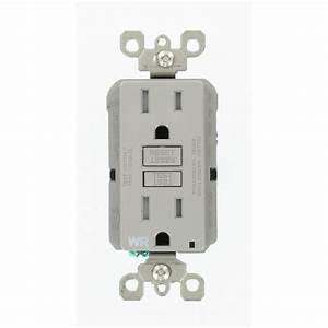 Leviton 15 Amp 125 Weather Resistant Gfci Outlet  Gray