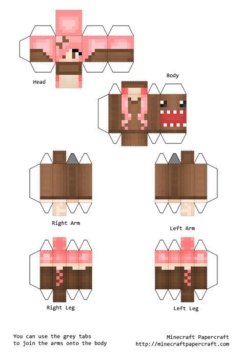 .basteln basteln mit papier die 27 besten bilder von minecraft bastelvorlagen do crafts mine. Papercraft Domo Girl (With images)   Minecraft printables, Minecraft birthday, Minecraft steve