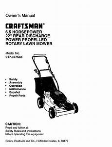 Craftsman 917 377543 Owner U0026 39 S Manual Pdf Download